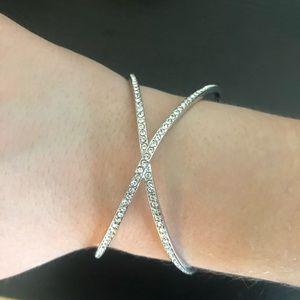Swarovski Crystal X Bangle